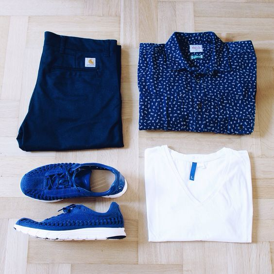 supra poele a granule - Outfitgrid - Carhartt Sid Pants, Denim Demon shirt, H&M vneck ...