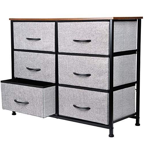 Kinwell Extra Wide Fabric Clothing Storage Drawers Dresser Organizer Unit With Sturdy Steel Fr In 2020 Dresser Organization Clothes Drawer Organization Storage Drawers