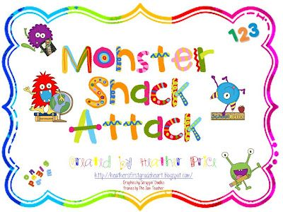 fun monster activities...rhyming and numbers, etc