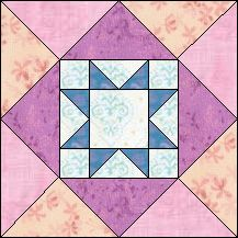 Block of Day for September 08, 2016 - Sawtooth Ladder-strip piecing-The pattern may be downloaded until: Friday, September 30, 2016.
