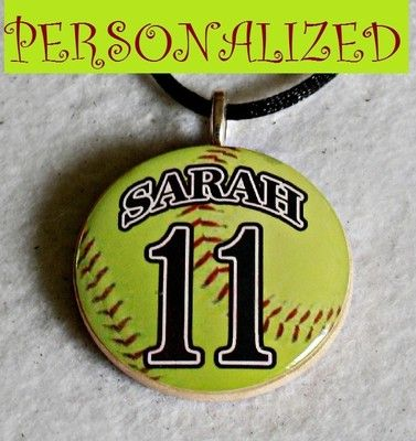 CALLING ALL MOMS - ENDING SOON - Personalized Softball Pendant, Get one for yourself to wear at the games.