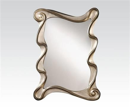Arla Silver Metal Glass Accent Mirror