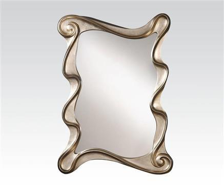 Arla Silver Metal Glass Accent Mirror