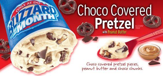 Dairy Queen Restaurant Copycat Recipes: Choco Covered Pretzel Peanut Butter Blizzard