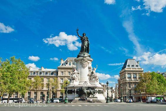 Plaza de República - Una plaza simbólica de París #paris #travel #viajes #turismo www.viveparis.es
