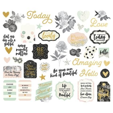 Scrapbook Pages Embellishment Mystery Bag and stickers oh My!!!