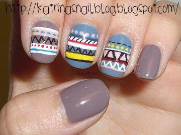 : Hipster Nails, Nails Makeup, Summer Nails, Tribal Nails, Hair Nails, Nail Design, Aztec Nails