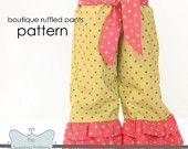 Ruffle Pants Sewing Pattern /Tutorial