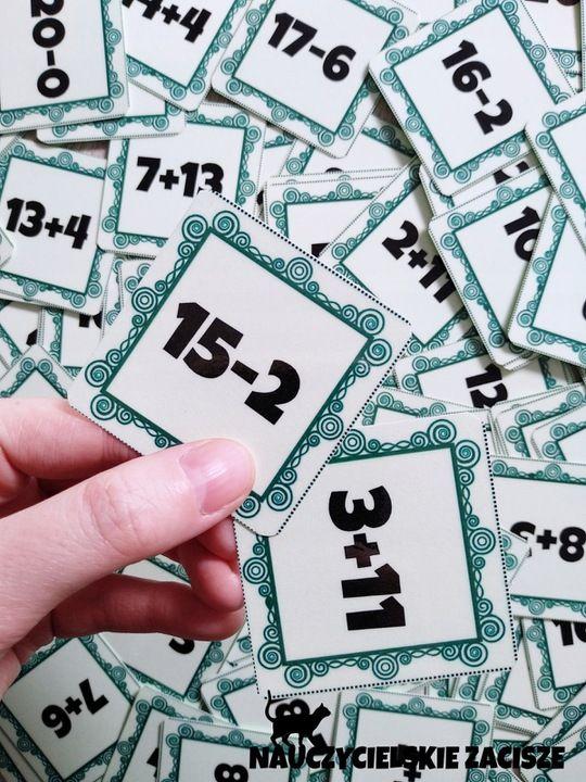 Matematyczna Wojna Karty Z Dzialaniami Do 20 Cards Playing Cards Enamel Pins