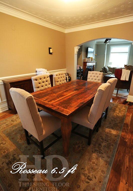 Reclaimed Wood Harvest Table With Epoxy/polyurethane Finish Ontario  Barnwood Cambridge,ON By HD Threshing Floor Furniture Www.hdthreshing.com |  Pinterest ...