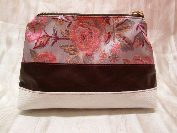 FREE SHIPPING Leather cosmetic bag Roses, leather cosmetic clutch, leather cosmetic wallet, leather clutch, leather bag, - pinned by pin4etsy.com