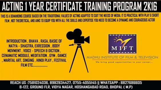 MIFT ##ADMISSION OPEN   REGISTRATION OPEN ACTING 1 YEAR - certificate for training