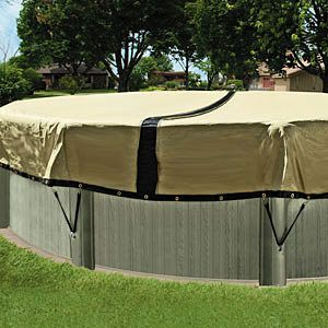 Ultimate winter above ground pool cover 24 ft round for Above ground pool winter cover ideas