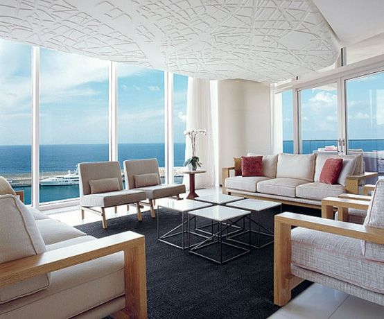 beach view from living room | modern living room beach view ...