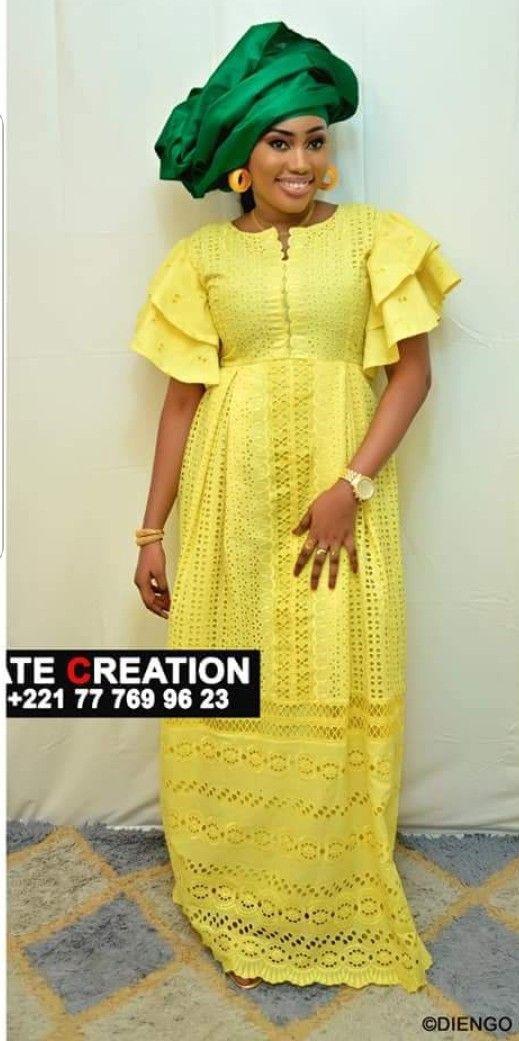 Nice jaune   Robe africaine, Mode africaine robe, Robe