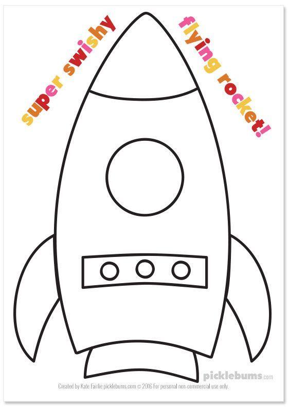 Make A Super Flying Rocket Use Our Freely Printable Template And Home And Decor Handwerksraum Kinder Basteln Diy Bastelideen Kinder