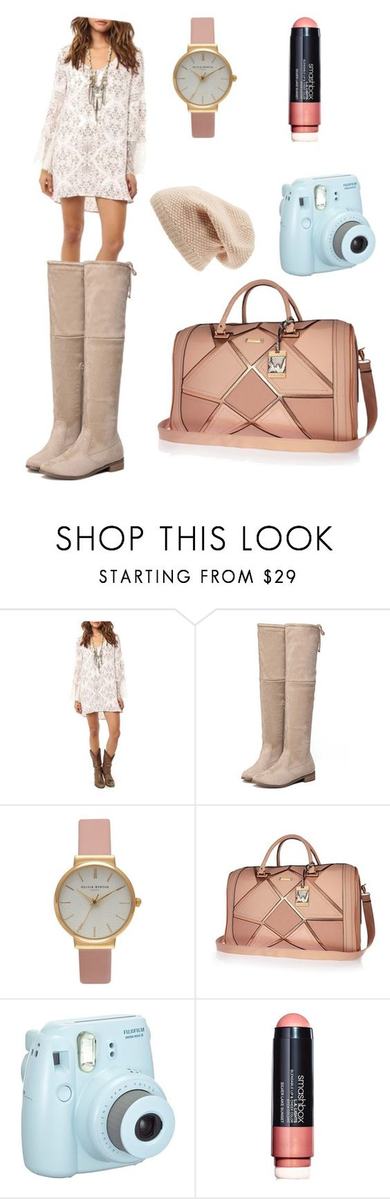 """""""Weekend trip"""" by color-lover123 ❤ liked on Polyvore featuring O'Neill, Olivia Burton, River Island, Smashbox and Sole Society"""
