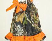 Mossy oak pillowcase dress baby toddler girl birthday. $20.00, via Etsy.