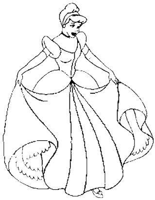 Cinderella Dress Coloring Page Pagine Da Colorare Disegni Da