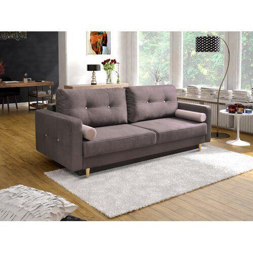 Aron 3 Sitzer Ausklappbare Sofabettung Isabelline Farbe Der Polsterung Schokolade Sofa Long Sofa Extra Deep Sofa