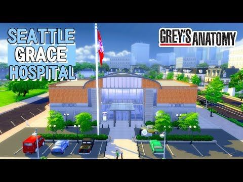 Seattle Grace Hospital Grey S Anatomy Construção The Sims 4 Youtube The Sims Sims Sims 4