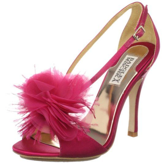 Badgley Mischka Women's Kiwi Sandal,Raspberry Satin ($56.99)