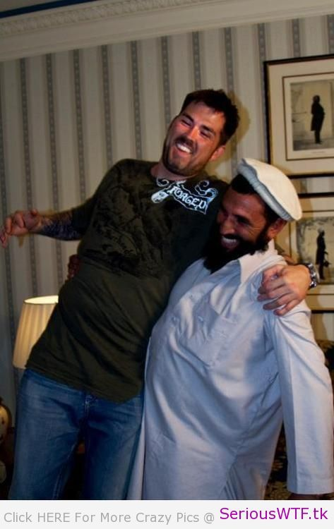 Former Navy SEAL Marcus Luttrell with his friend Mohammad Gulab, who saved him from the Taliban in Afghanistan.