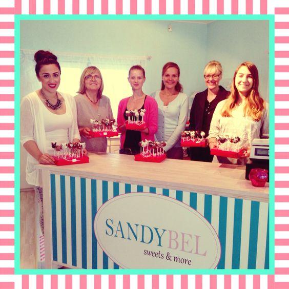 Danke für den tollen Workshop-Abend! #sandybel #cakepop #workshop #backkurs