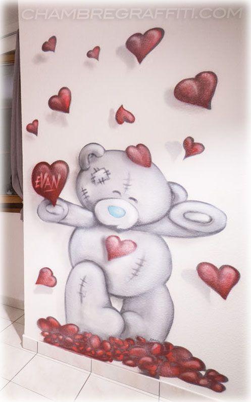 graffiti chambre bebe ourson coeur - Chambre Bebe Ourson