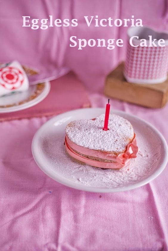 Mini Eggless Victoria Sponge Cake - Sandhya's Kitchen