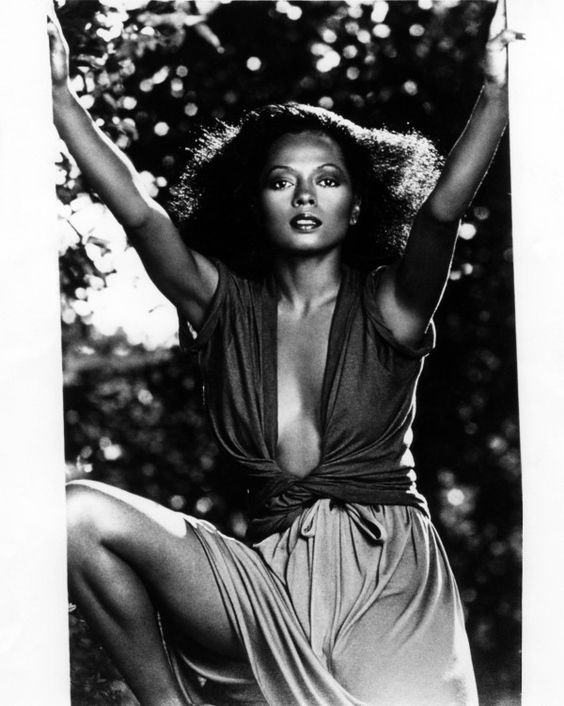 Effortlessly sexy: check out Diana Ross's plunging neckline