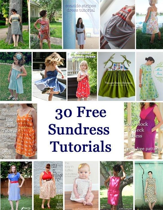 30 Free DIY Sundress Tutorial - for babies to women! .