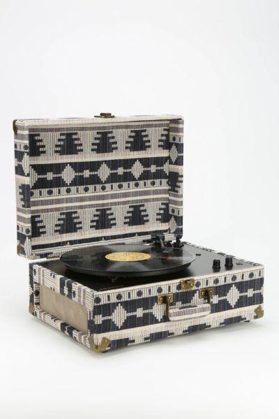 Crosley AV Room Geo Fabric Vinyl Record Player