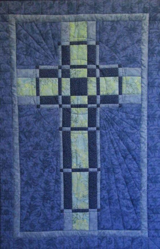 Intermediate Quilting Patterns : Woven Cross Quilt Pattern HQ-221 (intermediate, wall hanging)- USD 10.00 Quilts Pinterest ...