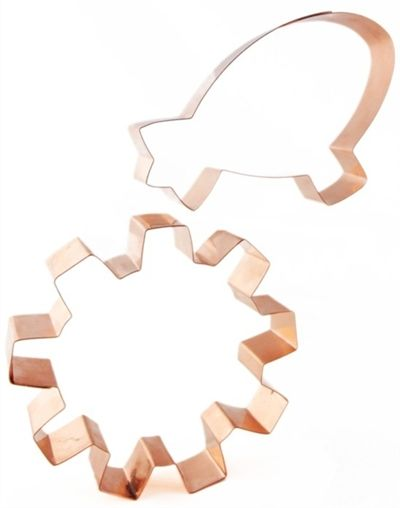 airship and gear copper cookie cutters