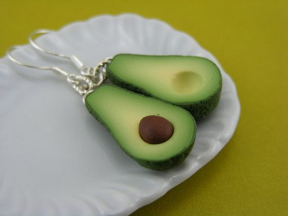 Avocado earrings. My grandma would LOVE these.  :o)