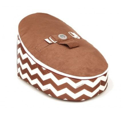 Brown Chevron Baby Bean Bag