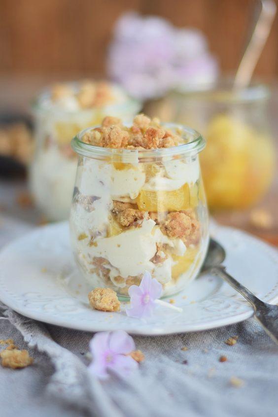 Bratapfel Mascarpone Streusel Dessert _ Baked Apple Mascarpone Crumble Dessert   Das Knusperstübchen