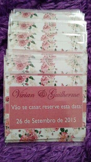 Ímã Save the Date!!! Entregue junto com o convite para seu convidado não perder a data!
