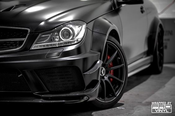 So, just in case the black series aero track pack wasn't a menacing enough creature we went and did a full wrap on it in satin black. As crazy as this car is it didn't really scream 'black series' until the wrap was done, but now..... unmistakable!