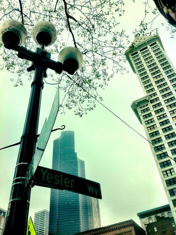 The Smith towers, downtown Seattle