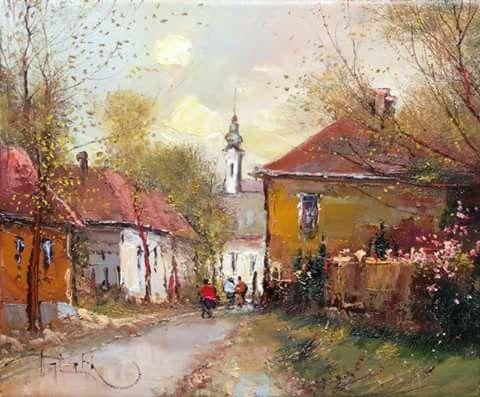 István Jakubik, Hungarian painter Smalltown lights