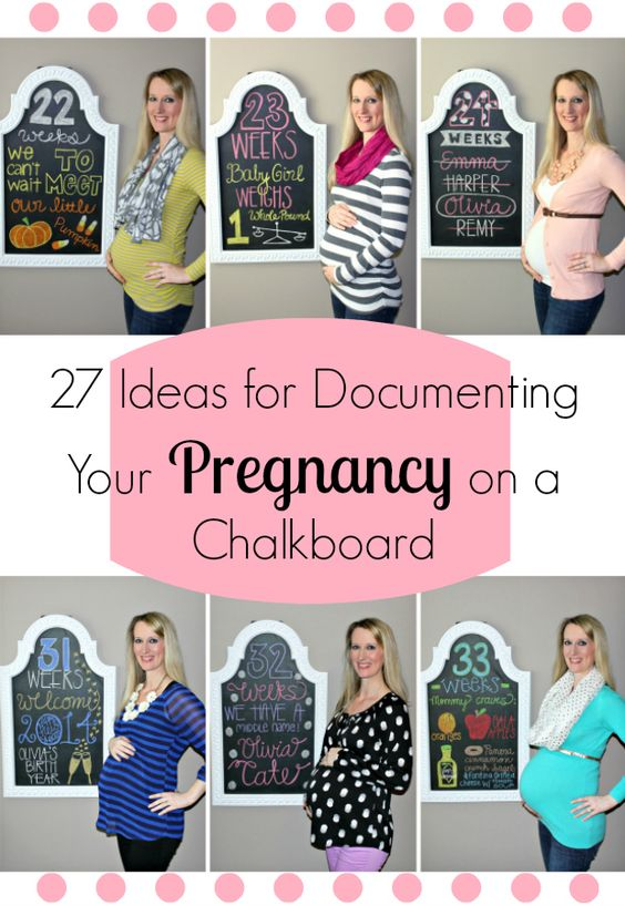 Lindsay's Sweet World: Week by week design ideas to document your entire pregnancy on a chalkboard