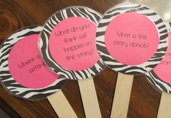 Zebra print story sticks