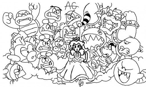 Coloriage Mario 3d Land Super Coloring Pages Coloring Pages Mario