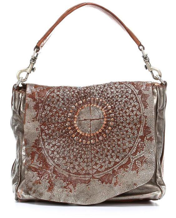 Lavata Gothic Beuteltasche Leder silber 29 cm  Diese und weitere Taschen auf www.designertaschen-shops.de entdecken