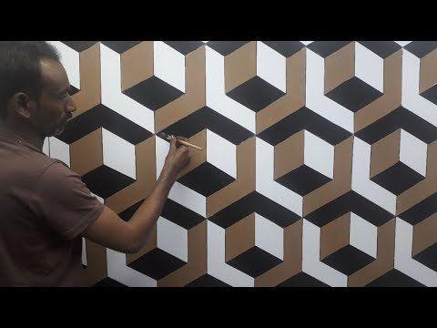 3d Wall Painting 3d Wall Decoration Effect 3d Wall Texture New Design Ideas Interior Design You 3d Wall Painting Wall Paint Designs Wall Paint Patterns
