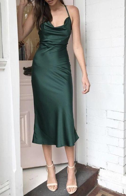 Sally Satin Silk Midi Slip Dress In Baby Pink Koogal In 2020 Trending Dresses Bridesmaid Dress Styles Dresses