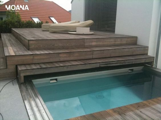 terrasse #mobile #piscine Terrasse Mobile MovingFloor à Cap Ferret - fabriquer sa piscine en bois
