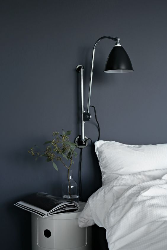 the perfect blue in nina holst's guest room, scandinavian bedroom inspiration via http://www.scandinavianlovesong.com/2016/01/weekly-wrap-up-x-1.html